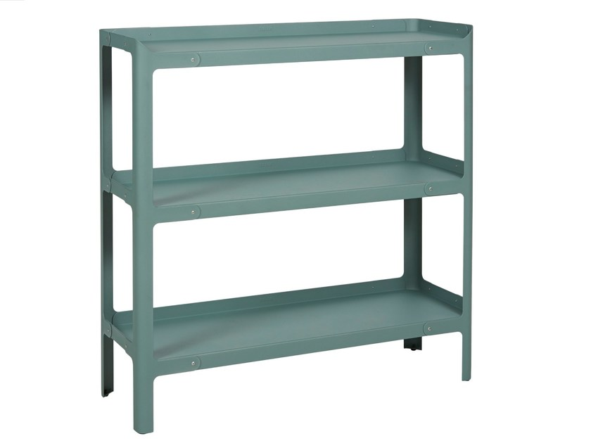 Lacquered metal shelving unit POP H900 L by Tolix