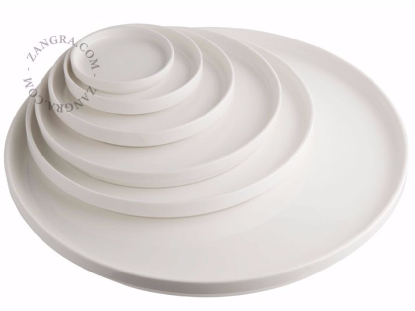 Piatto piano in porcellana PORCELAIN DINNER PLATES by ZANGRA
