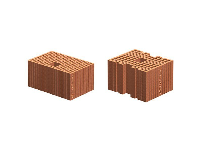 Loadbearing clay block for reinforced masonry POROTON block for reinforced masonry - Consorzio Poroton Italia