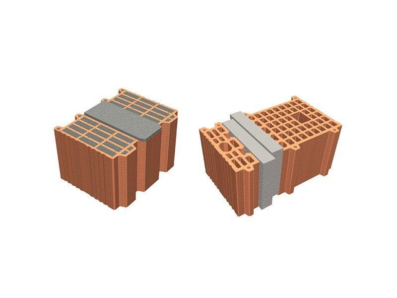 Thermal insulating clay block POROTON® thermal insulating clay block - Consorzio Poroton Italia