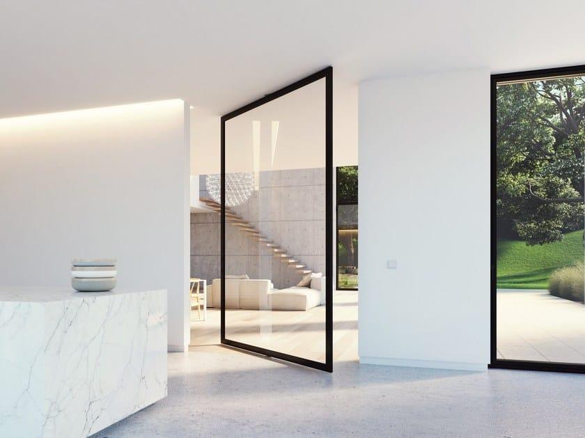 Porta a bilico in alluminio e vetro portapivot 6530 xl - Porta finestra dwg ...