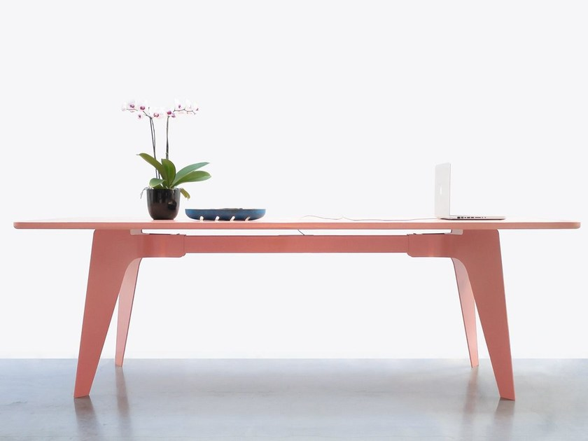 Tavolo rettangolare in legno impiallacciato PORTER by Palau
