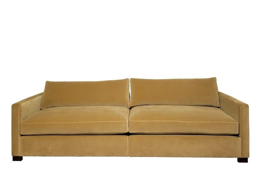 Fabric sofa PORTO - Branco sobre Branco