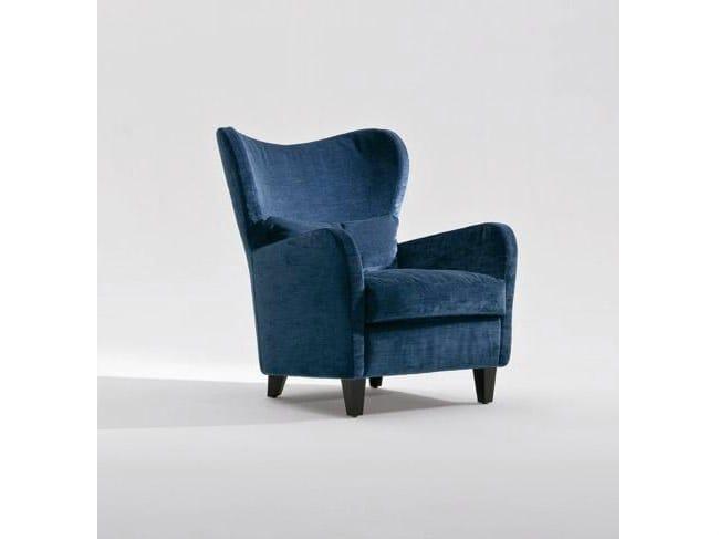 Fabric armchair with armrests PORTOFINO | Fabric armchair - Marac