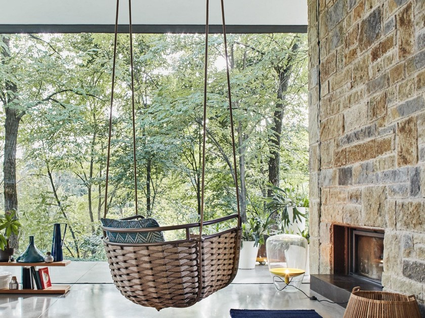 Aluminium garden hanging chair PORTOFINO | Garden hanging chair - Roberti Rattan