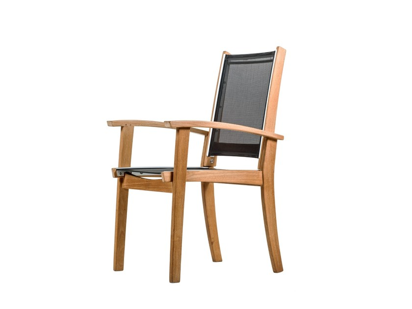 Garden chair with armrests PORTSEA | Garden chair - 7OCEANS DESIGNS