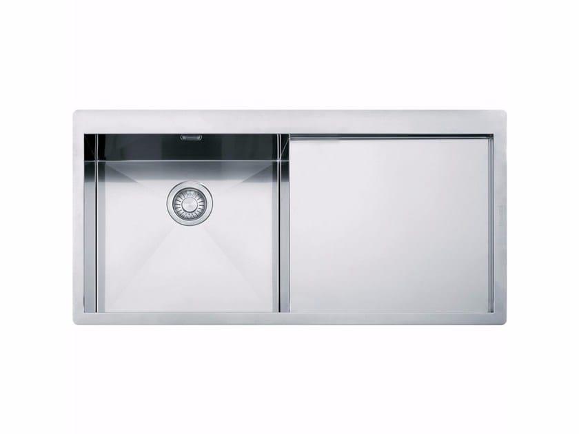 Lavello a una vasca in acciaio inox con sgocciolatoio PPX 211 TL by FRANKE