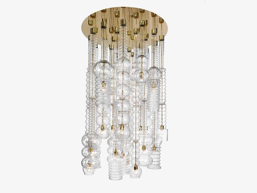 Glass pendant lamp PRAHA by Lasvit