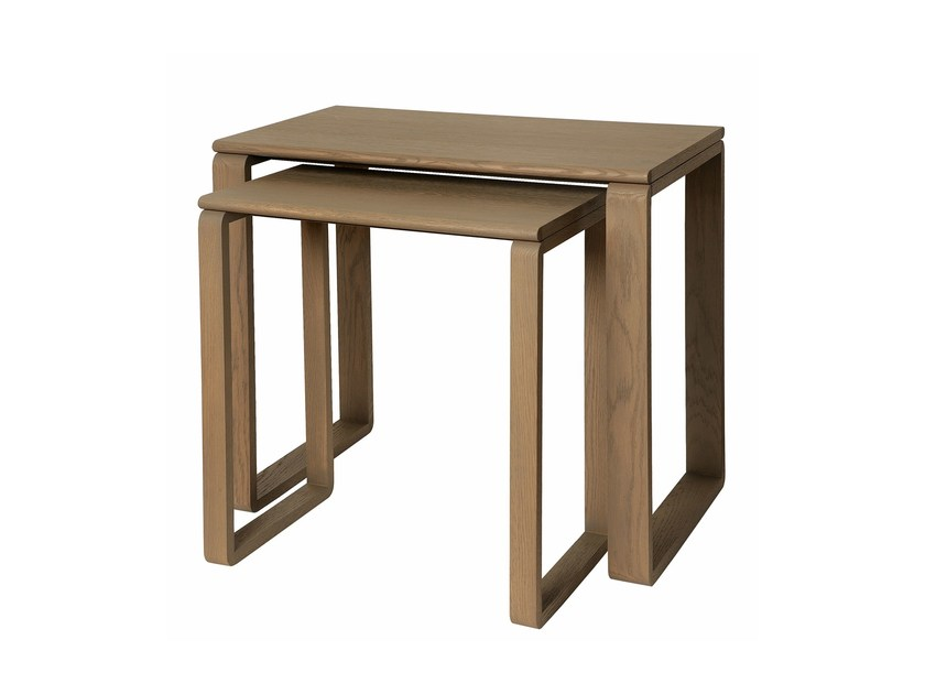 Lacquered rectangular side table PRAIA RASA | Side table - Branco sobre Branco