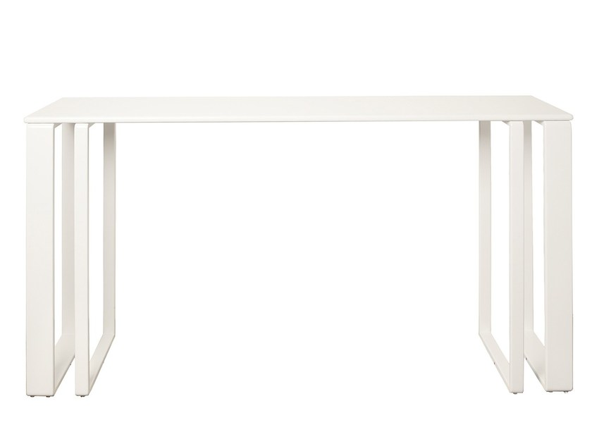 Lacquered rectangular MDF console table PRAIA RASA | Rectangular console table - Branco sobre Branco