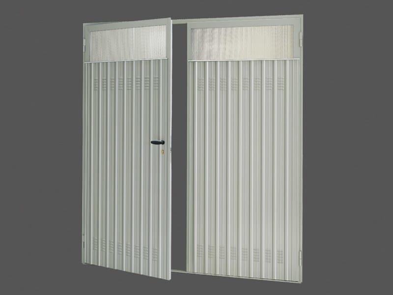 Porta a battente in acciaio pratic porta in acciaio de nardi - Porta a doppio battente ...