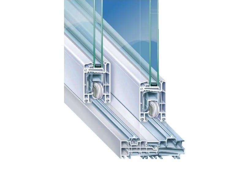 Finestra alzante scorrevole con doppio vetro in PVC PREMIDOOR - PIVA GROUP
