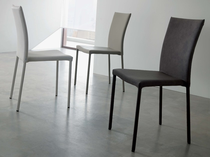 Upholstered imitation leather chair PREMIERE by Ozzio Italia