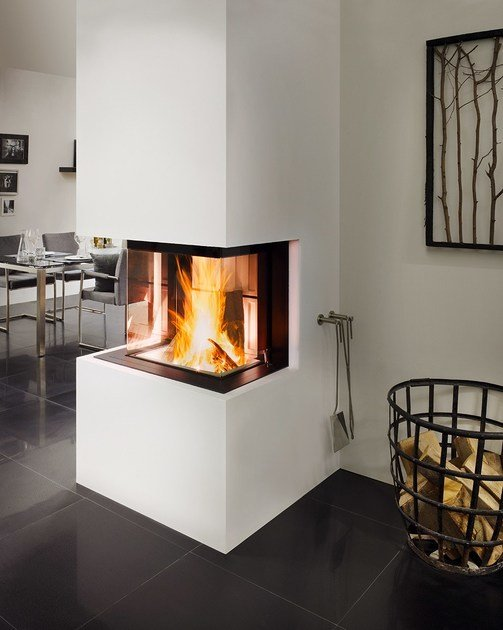 wood burning fireplace insert with panoramic glass premium. Black Bedroom Furniture Sets. Home Design Ideas
