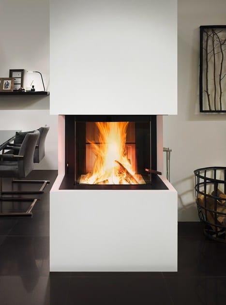 insert de chemin e bois avec vitre panoramique premium a. Black Bedroom Furniture Sets. Home Design Ideas