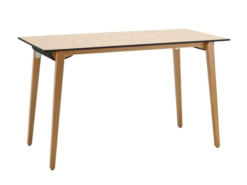 Tavolo pieghevole rettangolare in legno press tavolo for Costruire un tavolo pieghevole
