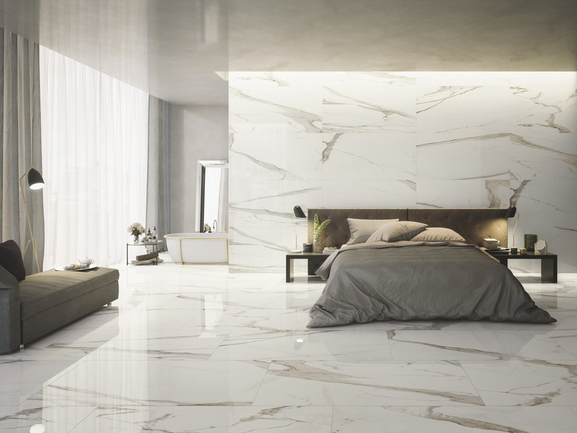 Pavimento rivestimento in gres porcellanato effetto marmo prestigio ceramiche refin - Rivestimento bagno effetto marmo ...