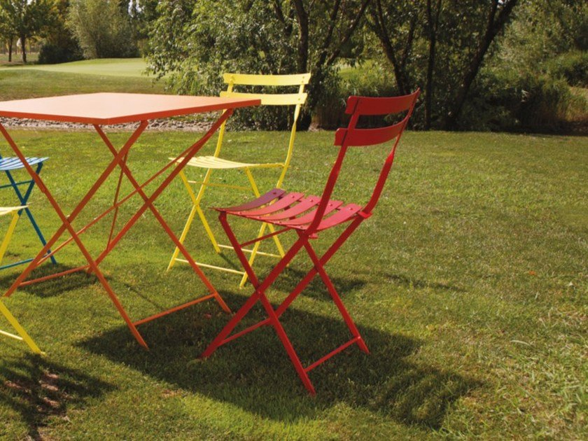 Folding steel garden chair PRETTY | Chair - Talenti