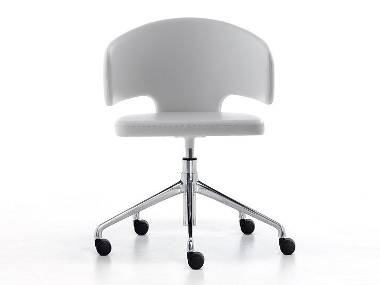 Height-adjustable task chair with armrests with casters PRETTY-P-HO | Chair with casters - Debi