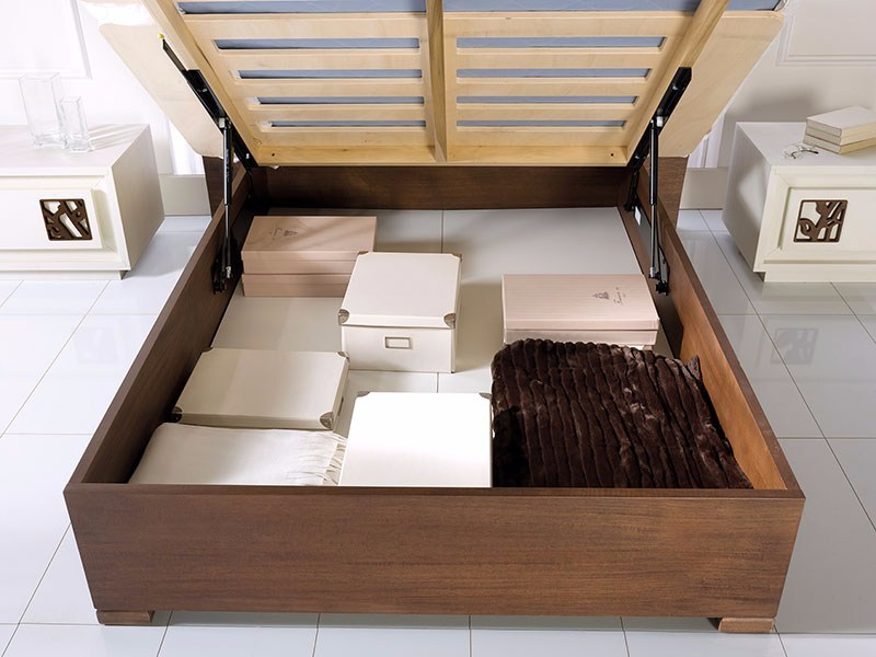 Double bed with tufted headboard PRIMA CLASSE | Storage bed by Arvestyle
