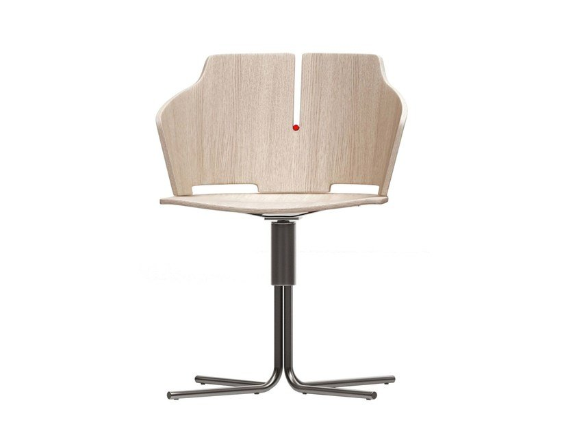 Swivel chair with 4-spoke base PRIMA | Chair with 4-spoke base - Luxy