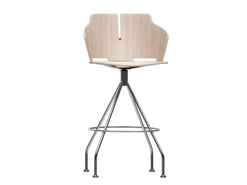 Swivel trestle-based counter stool PRIMA | Counter stool - Luxy