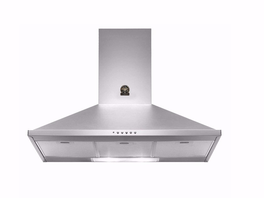 Wall-mounted cooker hood with integrated lighting PRIMA - K90 by Bertazzoni