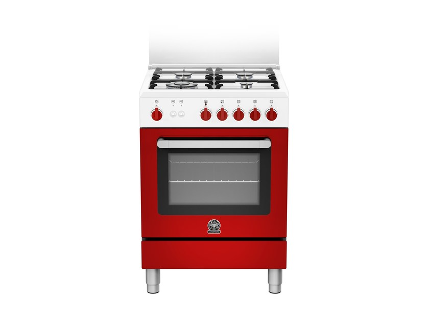 Contemporary style professional stainless steel cooker PRIMA - RI6 4C 61 C W by Bertazzoni