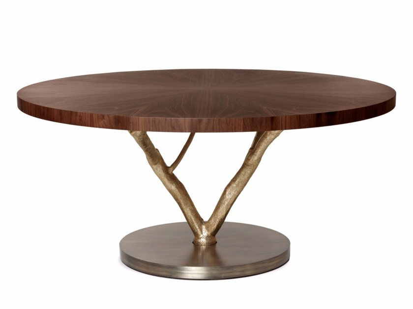 Round walnut table PRIMITIVE | Round table by Ginger & Jagger