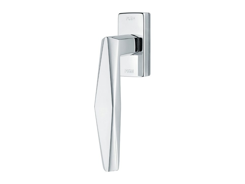 Contemporary style anti-intrusion DK brass window handle PRISMA | Anti-intrusion window handle - LINEA CALI'