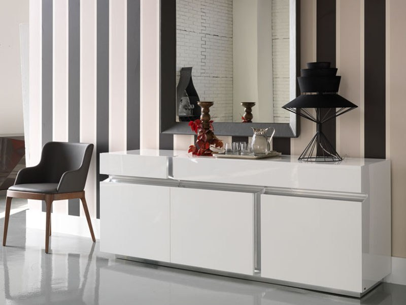Lacquered wooden sideboard PRISMA - Cattelan Italia