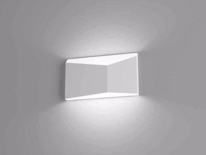Direct-indirect light wall lamp PRISMA by Marchetti