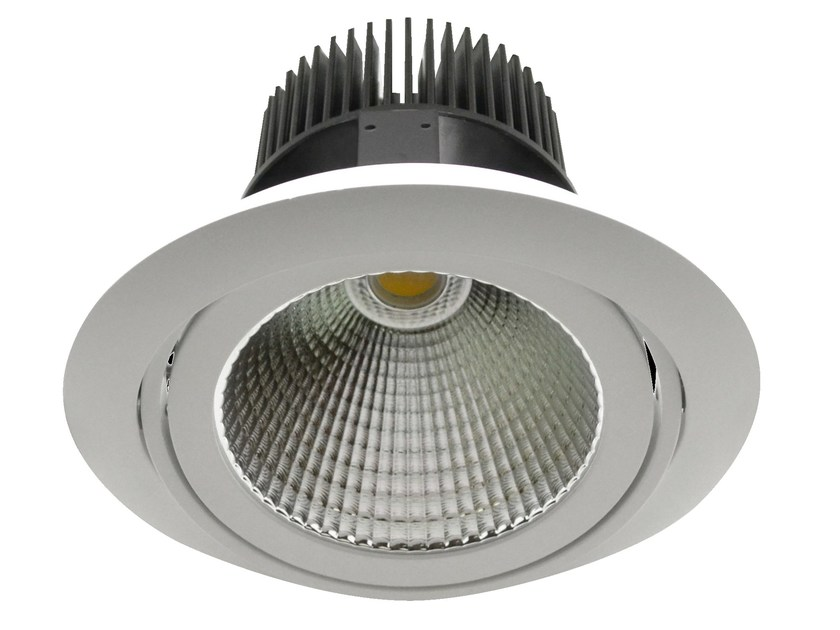 Faretto a LED orientabile in alluminio da incasso PRISMA XL - LED BCN Lighting Solutions