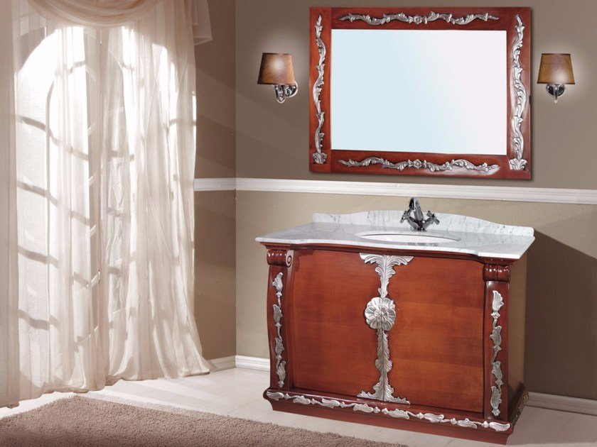 Vanity unit with doors with mirror PROCIDA CM48DC by LA BUSSOLA