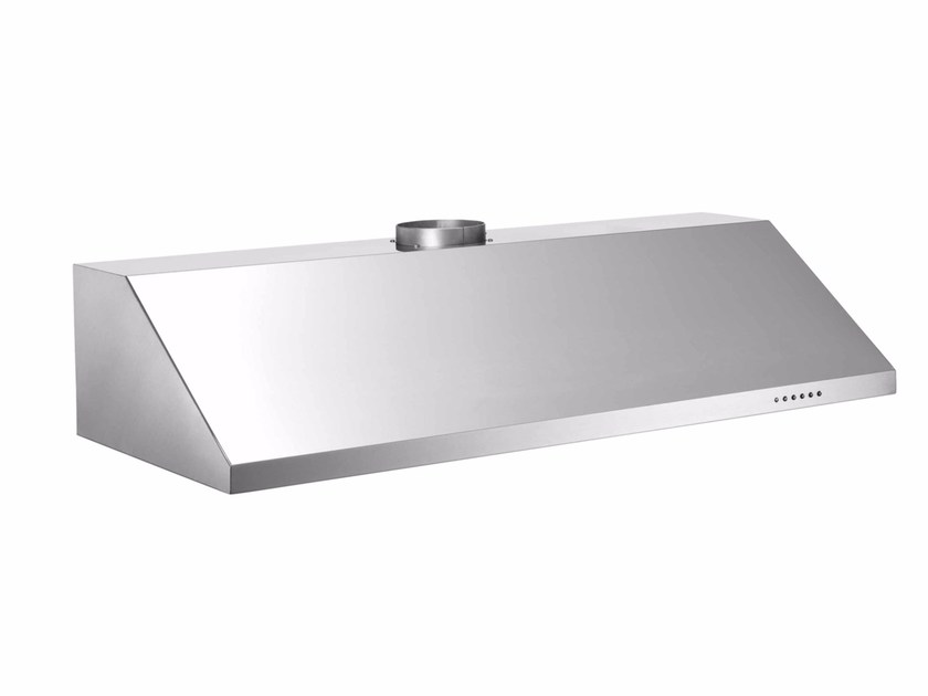 Built-in stainless steel cooker hood with integrated lighting PROFESSIONAL - KU120 PRO 1 X A - Bertazzoni