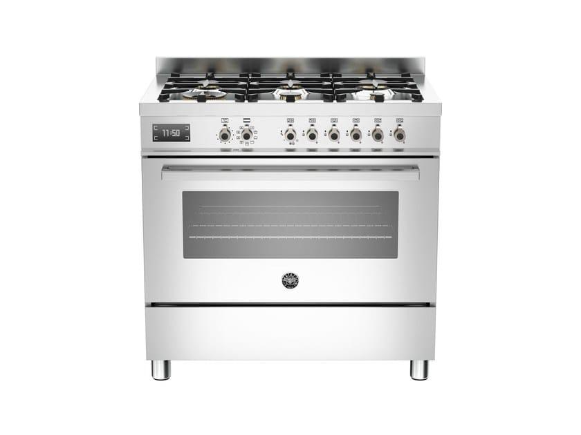 Cucina a libera installazione professionale PROFESSIONAL - PRO90 6 MFE S by Bertazzoni