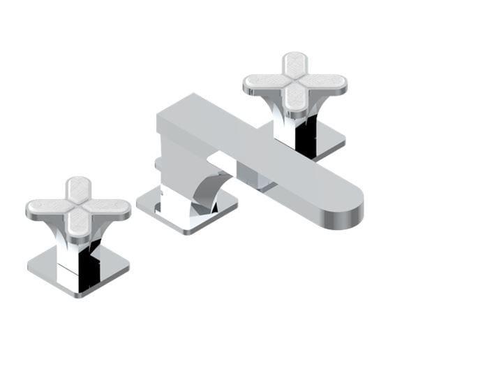 Miscelatore per lavabo a 3 fori in metallo in stile moderno con finitura lucida con rosette separate PROFIL LALIQUE CLAIR | Miscelatore per lavabo - INTERCONTACT