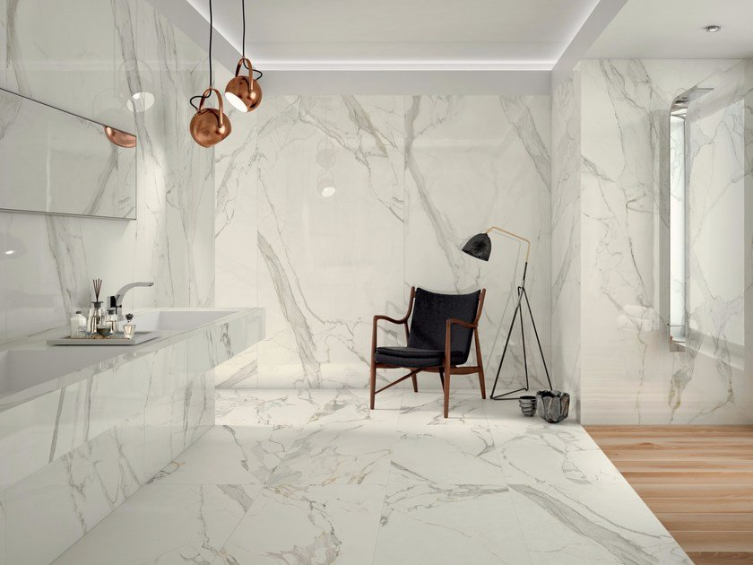 Porcelain stoneware wall/floor tiles with marble effect PROJECT EVOLUTION - Ceramiche Caesar