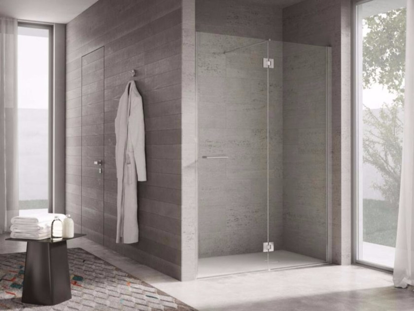 Niche shower cabin with hinged door PROJECT | Niche shower cabin - IdeaGroup