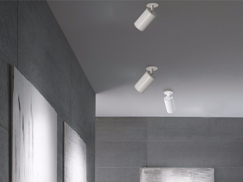 Faretto a LED orientabile in alluminio a soffitto PROJECTOR | Faretto a soffitto - GLIP by S.I.L.E