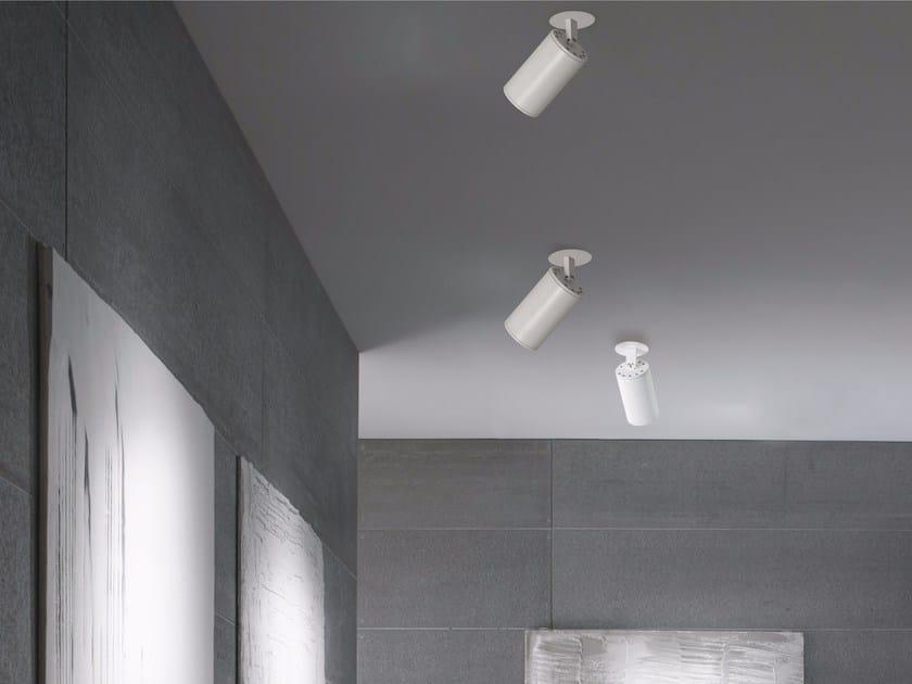 LED adjustable ceiling aluminium spotlight PROJECTOR | Ceiling spotlight - GLIP by S.I.L.E