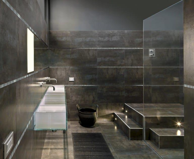Bordo in acciaio lucido per rivestimenti prolistel acc bordo in acciaio lucido progress profiles - Profilo rivestimento bagno ...