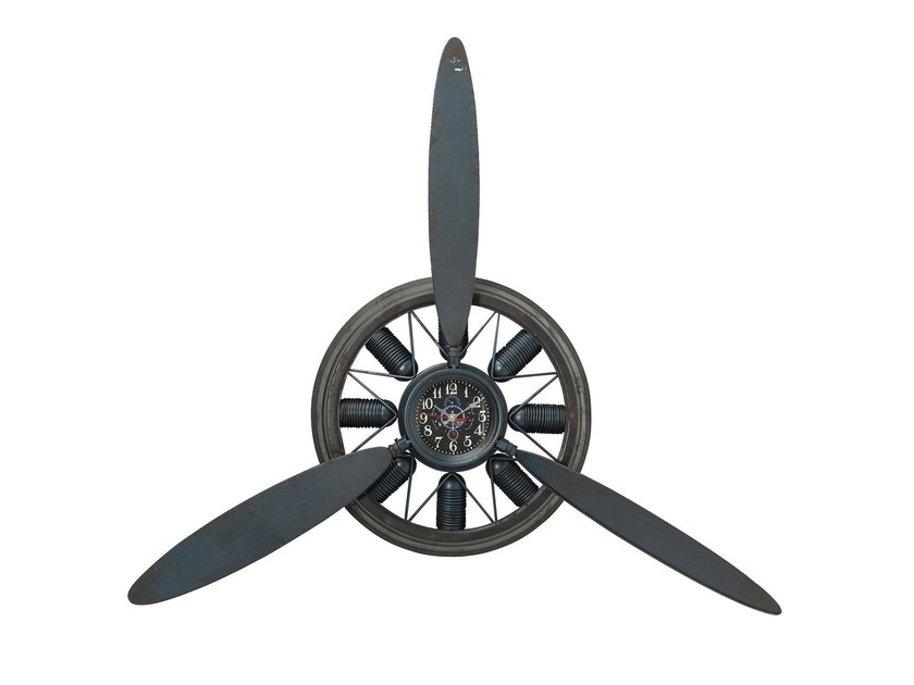 Wall-mounted steel clock PROPELLER - KARE-DESIGN