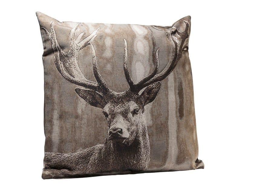 Cuscino quadrato in tessuto PROUD DEER - KARE-DESIGN