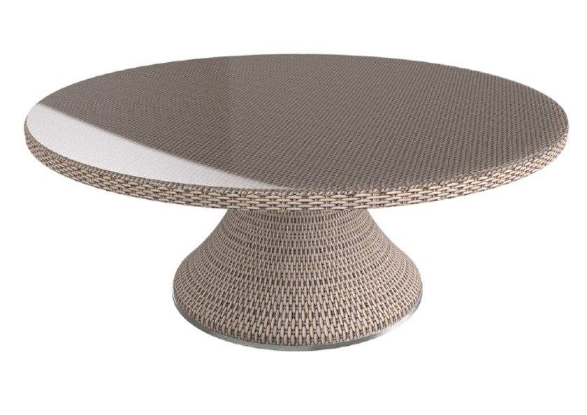 Round aluminium table PROVENCE | Round table - Sérénité Luxury Monaco