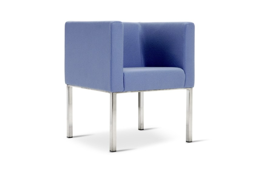 Upholstered guest chair PROVIDENCE | Armchair - Domingo Salotti