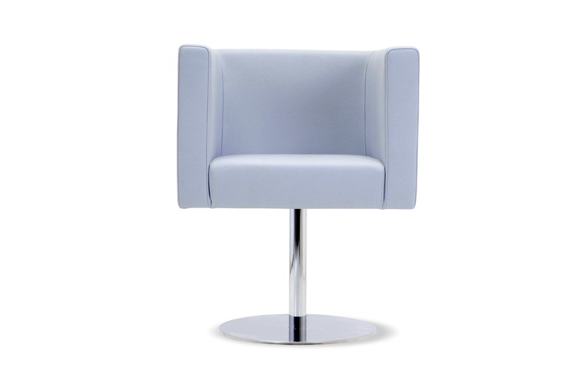 Swivel guest chair PROVIDENCE | Swivel armchair - Domingo Salotti