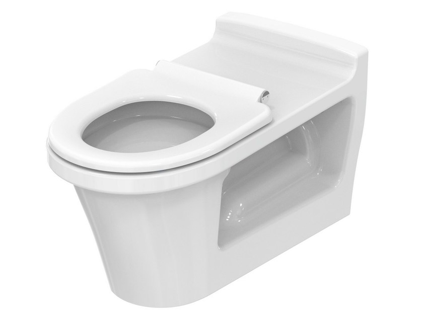 Wall-hung ceramic toilet for disabled PUBLIC | Wall-hung toilet for disabled - TOTO
