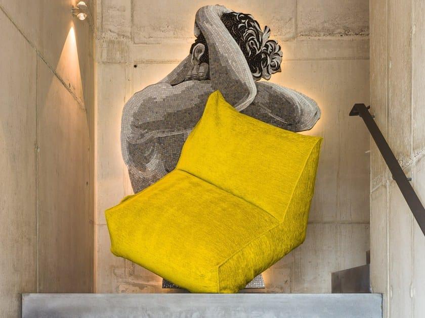 Fabric armchair PUFFONE | Bean bag by GART