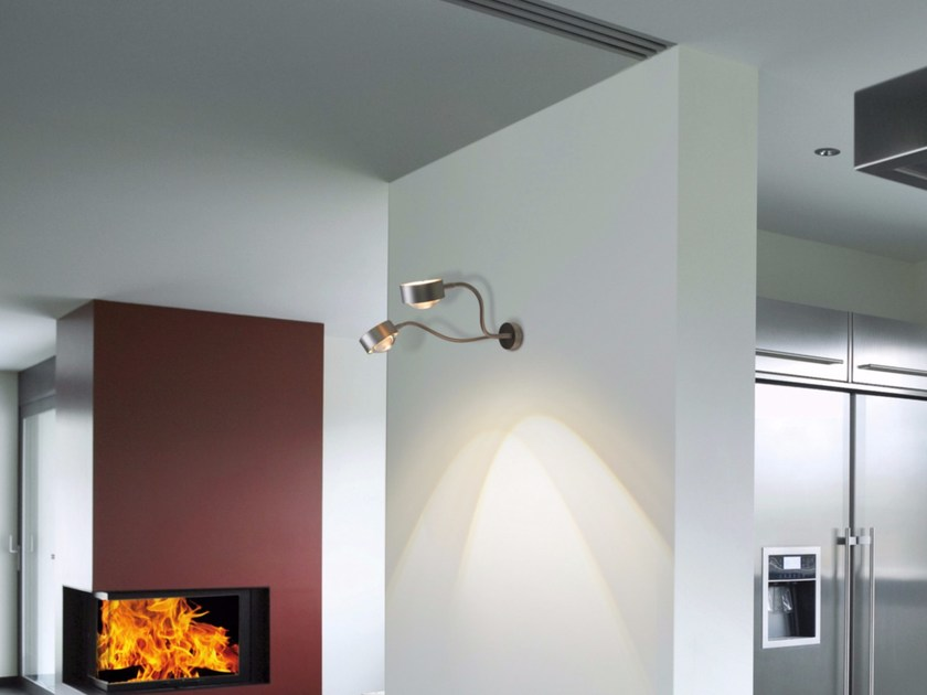 Adjustable metal wall lamp with swing arm PUK FLEXLIGHT DOUBLE WALL - Top Light